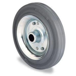 Orbis wiel massief rubberen band blauw-grijs staalplaat-velg DxB 125x37 mm draagvermogen 100 kg - Z10002500 - afbeelding 1