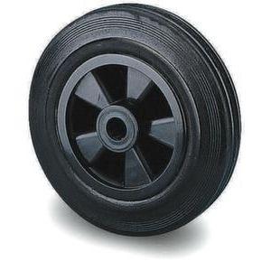 Orbis reservewiel draagvermogen 100 kg massief rubberen banden DxB 125x38 mm kunststof velg - Z10002542 - afbeelding 1