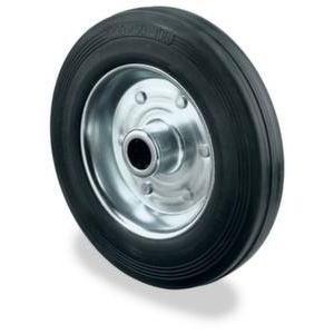 Orbis reservewiel draagvermogen 170 kg massief rubberen banden DxB 180x45 mm plaatstalen velg - Z10002531 - afbeelding 1
