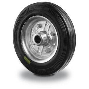 Orbis wiel half elastische band staalplaat-velg DxB 125x37 mm draagvermogen 150 kg - Z10002516 - afbeelding 1
