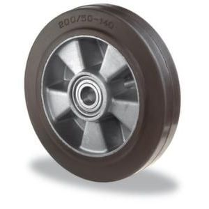 Orbis reservewiel draagvermogen 220 kg elastische banden DxB 125x50 mm aluminium velg - Z10002747 - afbeelding 1