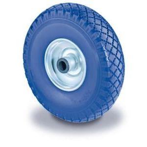 Orbis wiel draagvermogen 160 kg DxB 260x85 mm PU-band velg van staalplaat blokprofiel blauw - Z10002677 - afbeelding 1