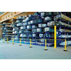 Orbis afzetsysteem Safety aluminium voet gegoten gewicht/PVC HxD 1000x355 mm 1xband L 2,3 m geel-zwart - Z10081447 - afbeelding 1