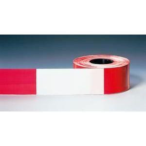 Orbis afzetlint PE L 500 m B 80 mm bedrukt aan beide zijden rood-wit geblokt - Z10081028 - afbeelding 1
