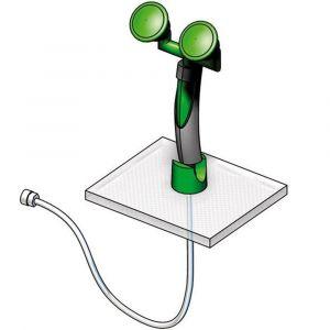 Orbis oogdouche DIN 12899 T2/EN15154-2:2006 wand- en tafelmontage sproeikop gebogen twee koppen 14 L/min - Z10017704 - afbeelding 1