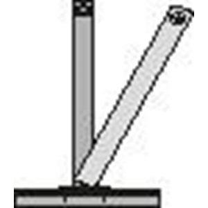 Orbis afzetpaal vierkant 70x70 mm omlegbaar bodemplaat driekantslot platte kop wit-rood - Z10080882 - afbeelding 1