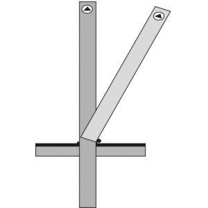 Orbis afzetpaal vierkant 70x70 mm omlegbaar bodemhuls cilinderslot platte kop wit-rood - Z10080881 - afbeelding 1