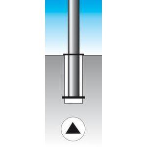 Orbis afzetpaal RVS diameter 76 mm afsluit-uitneembaar - Z10080943 - afbeelding 2