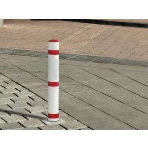 Orbis signaleringspaal kunststof H 1160 mm uitneembaar met bodemhuls rood-wit - Z10080886 - afbeelding 1