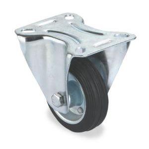 Orbis bokwiel half elastische band staalplaat-velg DxB 125x37 mm draagvermogen 150 kg - Z10002512 - afbeelding 1