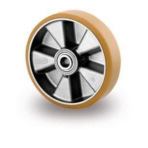 Orbis zwaarlastwiel wiel draagvermogen 500 kg rechte PU-banden aluminium velg precisiekogellager naaf diameter 20 mm DxB 125x50 mm - Z10002805 - afbeelding 1