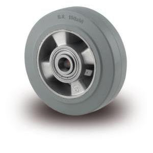 Orbis zwaarlastwiel wiel draagvermogen 300 kg elastische banden precisiekogellager aluminium velg naaf diameter 20 mm DxB 125x50 mm niet-strepend - Z10002941 - afbeelding 1