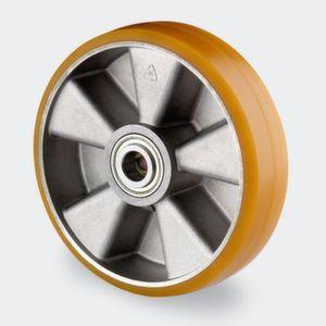 Orbis zwaarlastwiel wiel draagvermogen 500 kg ronde PU-banden aluminium velg precisiekogellager naaf diameter 20 mm DxB 125x50 mm - Z10002819 - afbeelding 1
