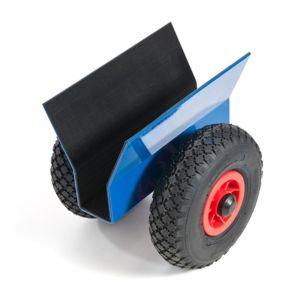 Orbis platenroller draagvermogen 200 kg laadvlak LxB 320x60 mm staal met rubberen bekleding luchtbanden - Z10000274 - afbeelding 1