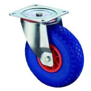 Orbis zwenkwiel draagvermogen 75 kg PU-banden kunststof velg DxB 260x85 mm wiellager plaat - Z10002619 - afbeelding 1