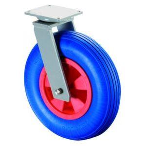 Orbis zwenkwiel draagvermogen 200 kg PU-banden kunststof velg DxB 400x100 mm wiellager plaat - Z10002622 - afbeelding 1