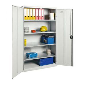 Orbis kast met openslaande deuren HxBxD 1800x1000x500 mm 4 legborden staal romp RAL 7035 - Z10018349 - afbeelding 1