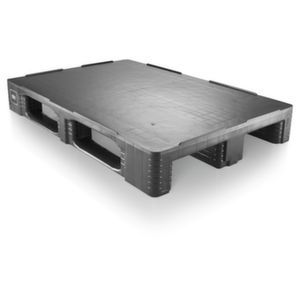 Orbis pallet HDPE HxLxB 160x1200x800 mm draagvermogen 7500 kg zwart - Z10014237 - afbeelding 1
