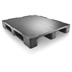 Orbis pallet HDPE HxLxB 160x1200x1000 mm draagvermogen 7500 kg zwart - Z10014238 - afbeelding 1