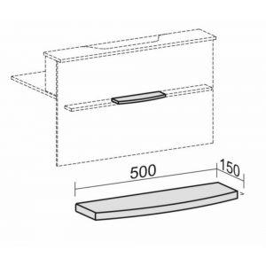Orbis tassenplank voor balievoorbouw afgerond esdoorn - Z10089803 - afbeelding 1