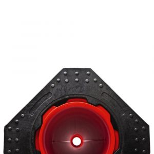 Orbis reflecterende pylon 500 mm reflecterende folie rood-wit reflecterend - Z10094521 - afbeelding 1