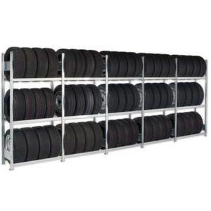 Orbis bandenstelling voor 20voet-containers HxBxD 2000x5684x400 mm 3 etages vaklast 150 kg verzinkt - Z10093934 - afbeelding 1