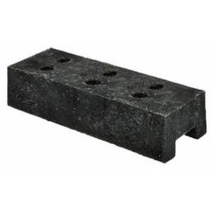 Orbis voetplaat voor mobiel hek HxLxB 160x700x250 mm 6 gaten kunststof zwart - Z10094519 - afbeelding 1