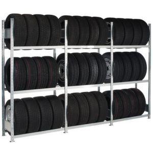 Orbis bandenstelling basis HxBxD 2750x1000x400 mm 4 etages vaklast 150 kg verzinkt - Z10093942 - afbeelding 1