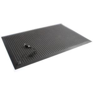 Orbis werkplaatsmat LxB 900x600 mm met noppen PU zwart - Z10090662 - afbeelding 1