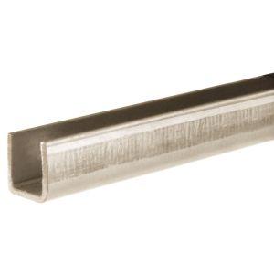 Henderson 100/2000 schuifdeurbeslag ondergeleiding U-profiel 2000 mm verzinkt staal - A1800393 - afbeelding 1