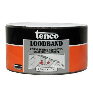 Tenco bitumen loodband zelfklevend 7,5 cm x 10 m zwart - Y40710000 - afbeelding 1