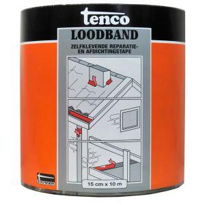 Tenco bitumen loodband zelfklevend 15 cm x 10 m zwart - Y40710002 - afbeelding 1