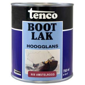 Tenco bootlak dekkend 908 Amstelrood 0,75 L - A40710049 - afbeelding 1