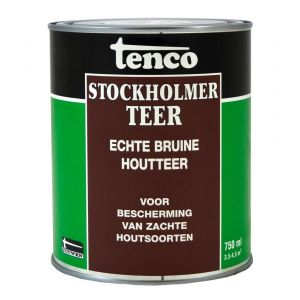 Tenco bitumen coating Stockholmer teer bruin 0,75 L - Y40710067 - afbeelding 1