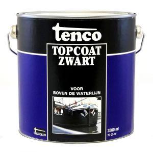 Tenco roestwerende coating Topcoat teervrij zwart 2.5 L - A40710035 - afbeelding 1