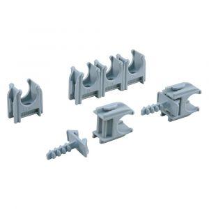 Buisclip Euro 19 mm grijs set 50 stuks - A50400976 - afbeelding 1