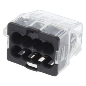Lasklem 8-polig 8-gaats 8x1.0 2.5 mm2 transparant-grijs - A50401102 - afbeelding 1