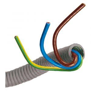Installatiebuis flexiplus QL slagvast diameter 5/8 inch 20 m grijs voorbedraad - Y50401016 - afbeelding 1