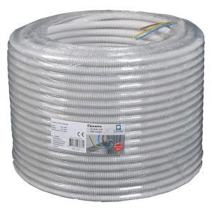 Installatiebuis flexiplus QL slagvast diameter 5/8 inch 100 m grijs voorbedraad - Y50401017 - afbeelding 1
