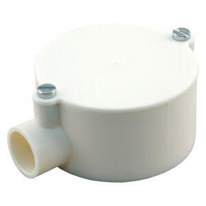 Attema lasdoos einddoos diameter 5/8 inch crème - A50401106 - afbeelding 1