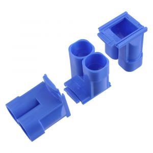 Haf spruitstuk multi 2x diameter 5/8-3/4 inch blauw set 3 stuks - A50401007 - afbeelding 1