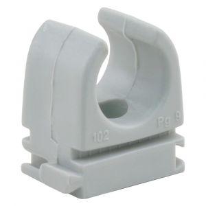 Klembeugel voor installatiebuis 16 mm 5/8 inch grijs set 50 stuks - Y50400980 - afbeelding 1