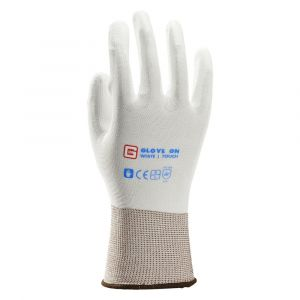 Glove On White Touch handschoen maat 9 L wit - A50400069 - afbeelding 1