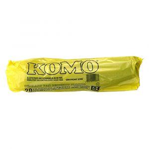 Komo huisvuilniszak 60x80 cm 20 stuks 1103080-001 - Y50400935 - afbeelding 1