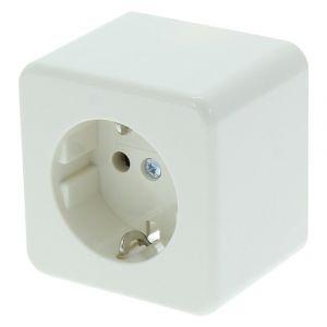 Berker contactdoos opbouw 1-voudig randaarde crème - A50401129 - afbeelding 1