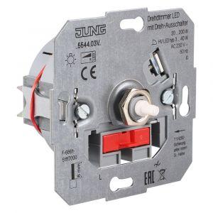 Jung dimmer element inbouw LED 3-40 W/20-200 W draai-uit - Y50401308 - afbeelding 1