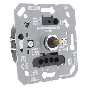 Jung dimmer element inbouw LED 3-100 W/2-420 W druk-wissel - Y50401309 - afbeelding 1