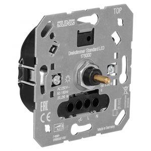 Jung dimmer element inbouw LED 3-60 W/210 W druk-wissel - Y50401310 - afbeelding 1