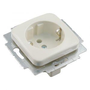 Busch-Jaeger SI contactdoos inbouw 1-voudig randaarde crème set 10 stuks - Y50401280 - afbeelding 1