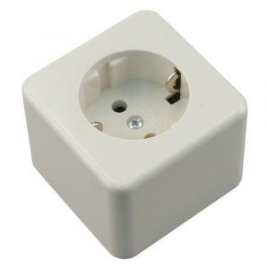 Berker contactdoos opbouw 1-voudig randaarde crème - A50401130 - afbeelding 1